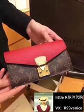 意大利代购 LV路易威登 pallas新款拼色金扣长款钱包女士手拿包