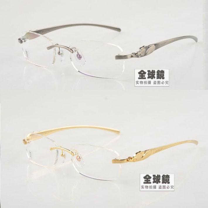新款眼镜架 男女款 r豹子头无框5102336奢华时尚眼镜框