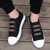 新款夏季潮流一脚蹬男鞋韩版懒人休闲鞋秋季帆布鞋男生百搭板鞋子