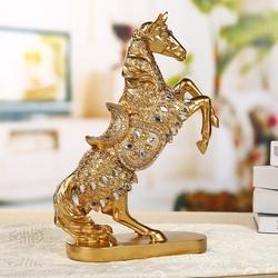 家居饰品客厅马摆件装饰品酒柜办工招财摆设创意现代树脂工艺品