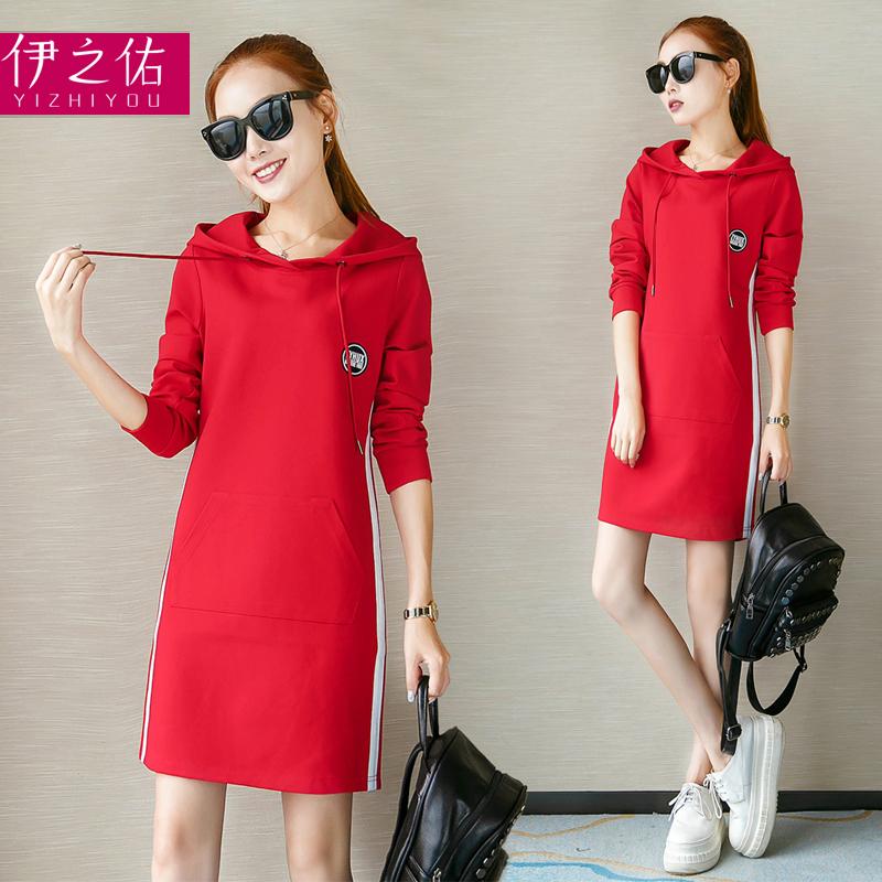 韩版红色连衣裙中长款雪纺海边度假飘逸长裙沙滩裙女图片