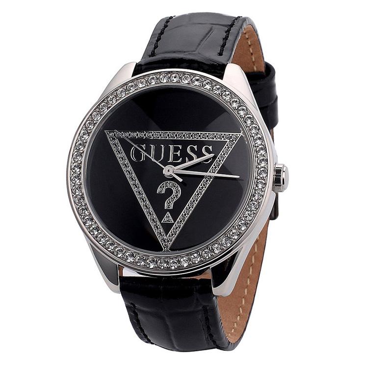 GUESS手表 盖尔斯女表 真皮皮带女式表 倒三角纪念版 W65006L2