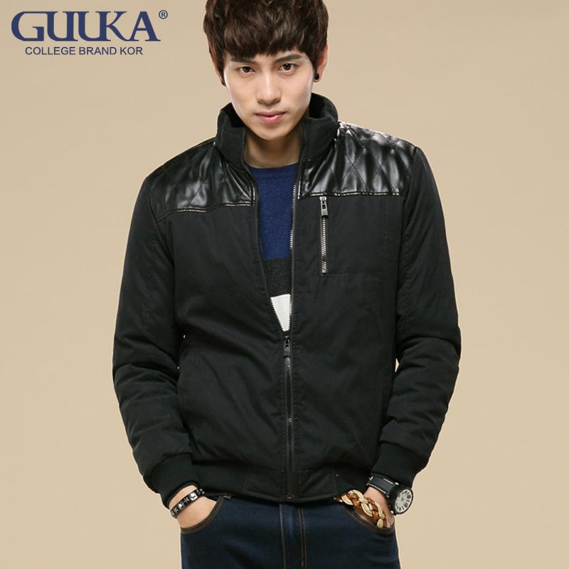 青年男装品牌夹克外套秋冬款纯色上衣立领韩版潮流男士外套修身型