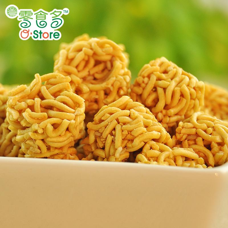 零食多拉面丸子多小脆鲜虾鸡汁烧烤味台湾捏碎休闲零食5包148g