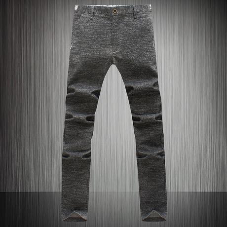 2014年秋装韩版新款男士灰色休闲裤 韩版时尚休闲修身长裤 包邮