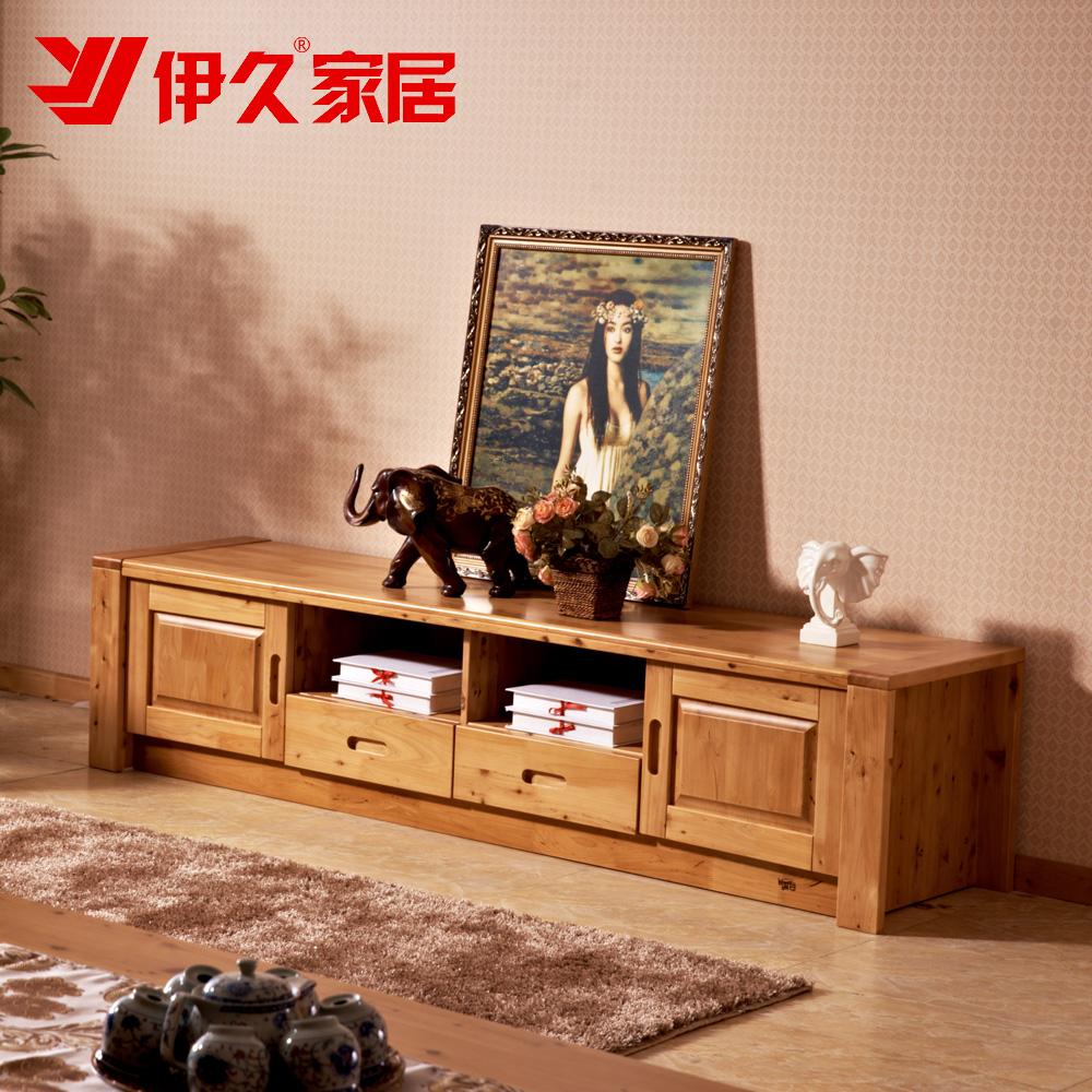伊久 客厅全实木电视机柜 环保家具卧室电视柜1.8米纯柏