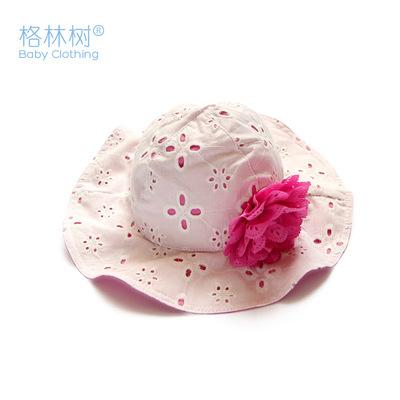 格林树 包邮春秋夏季女童太阳帽韩版宝宝帽子纯棉婴儿遮阳帽公主