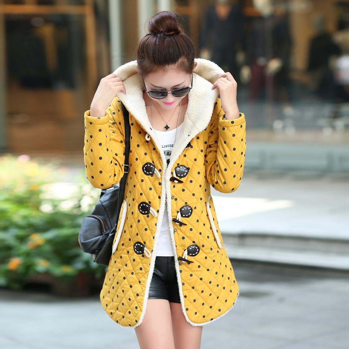 新款棉服女中长款韩国 修身大码女装棉衣连帽学生冬装少女式棉袄
