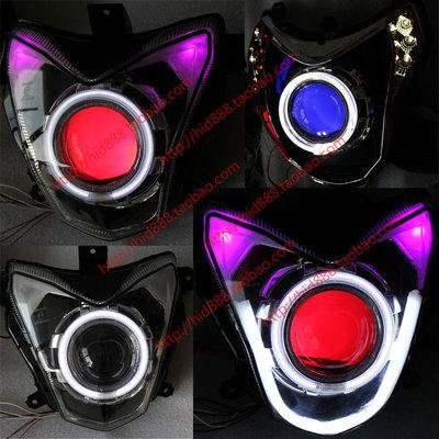 钱江龙贝纳利黄龙600 蓝宝龙改装海拉Q5双光透镜天使恶魔大灯总成