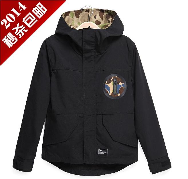古己 原创设计秋装新品男士夹克外套 潮 韩版迷彩加绒休闲外套男