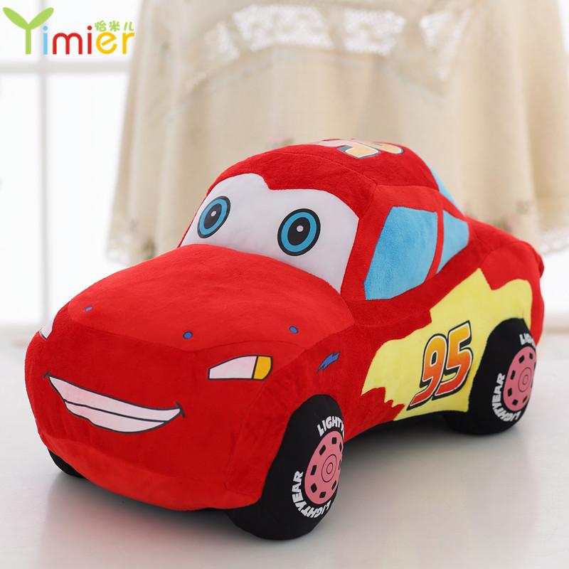 小汽车模型毛绒玩具婴儿卡通可爱创意抱枕公仔玩偶男