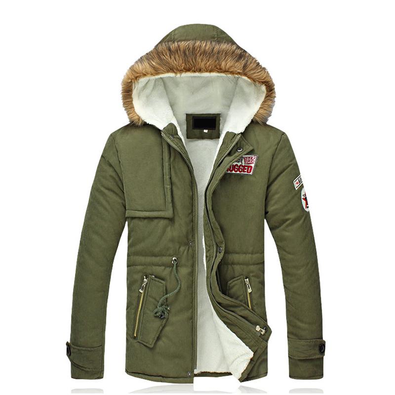 2014冬季新款潮流男士大码百搭连帽棉衣外套