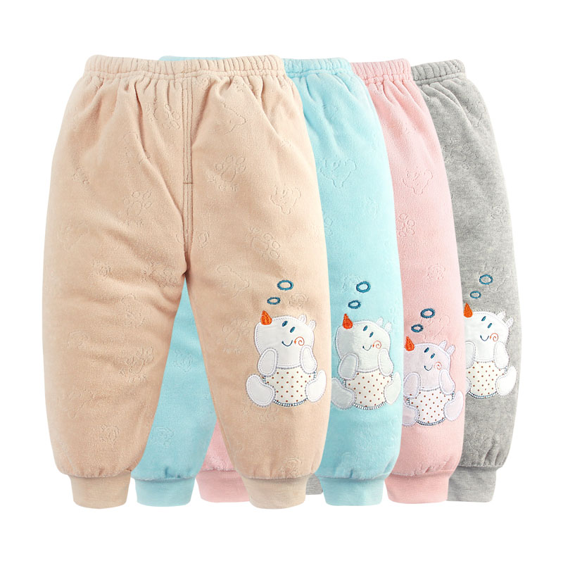 婴儿裤子冬 男女宝宝厚棉裤婴儿冬装裤子加厚加绒夹棉可开档棉裤