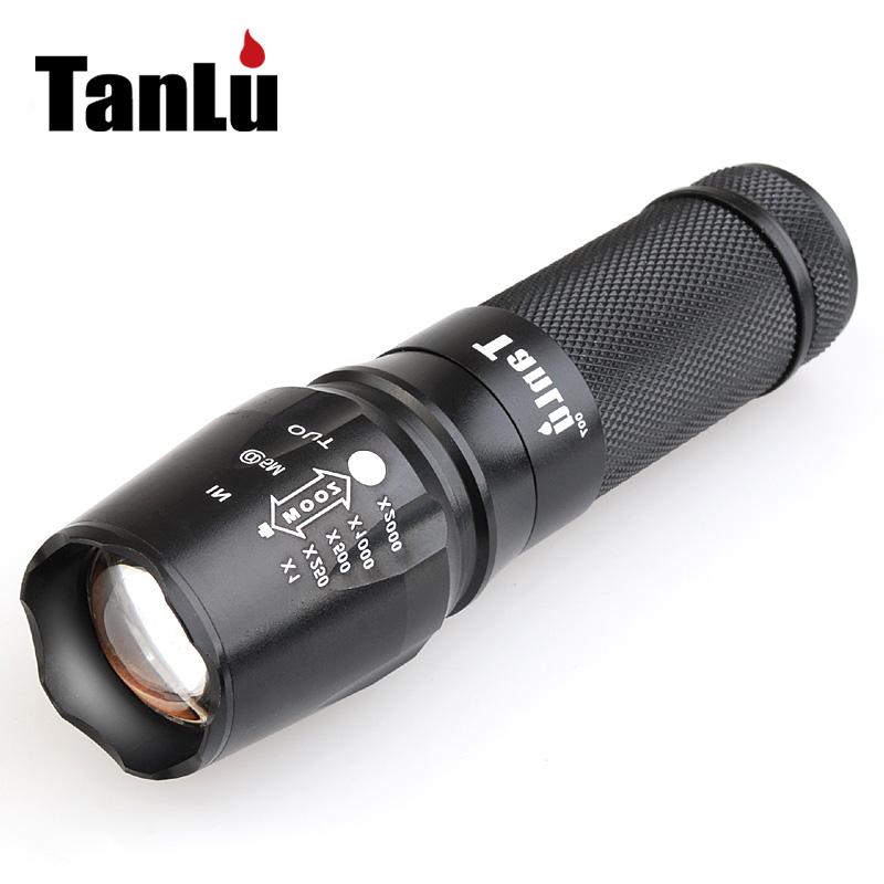 探露L2充电强光手电筒远射可使用26650电池调焦户外骑行装备防水