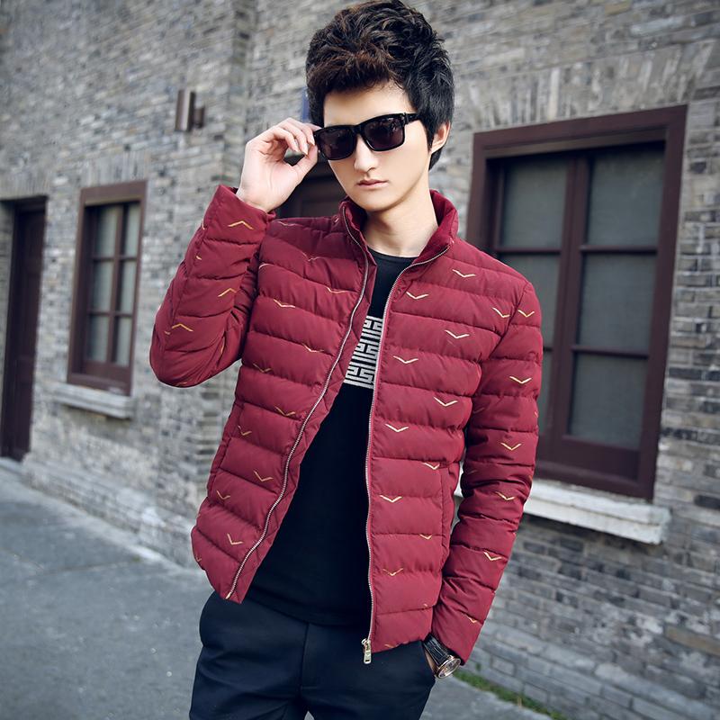 空城计2014冬装新款韩版拉链青年修身型青春短款外套加厚棉衣null