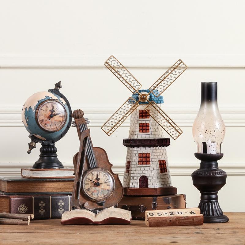 美式创意复古房间小摆件电视酒柜客厅卧室家居软装装饰品摆设欧式