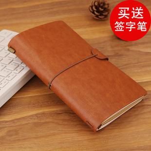 泰南德复古旅行记事本活页笔记本文具牛皮纸手帐本日记本定制