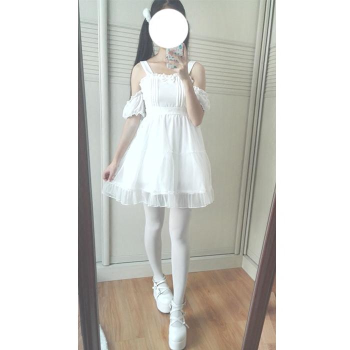 正品打折日系软妹夏季蓬蓬可爱公主裙妖精翅膀薄荷绿