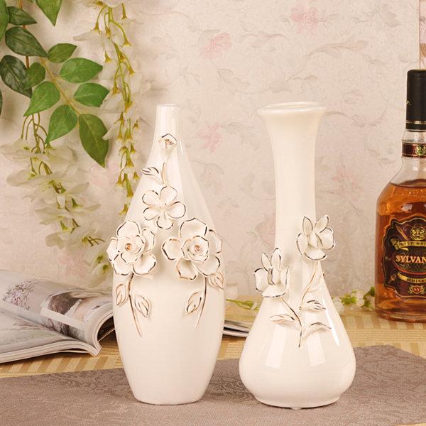 陶瓷花瓶创意欧式工艺品客厅装饰品家居摆设电视柜