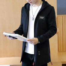2017春季新款休闲夹克男士韩版潮流中长款外套薄款学生帅气春秋装