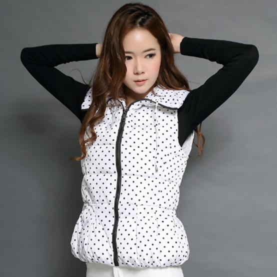 韩流 2014秋冬季女装新款高档时尚韩版修身气质女士马甲棉衣外套