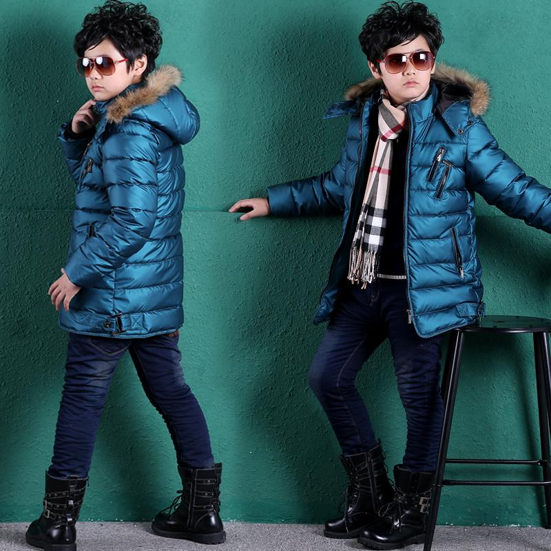 童装2014新款冬装儿童棉衣男童棉服加厚外套中大童棉袄中长款冬季