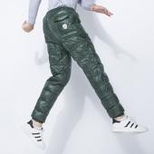 男外穿修身 户外休闲保暖超轻男士 加厚高腰棉裤 羽绒裤 冬季青年大码