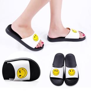 情侣学生拖鞋女夏居家卡通室内外穿浴室个性笑脸韩版可爱平底凉拖