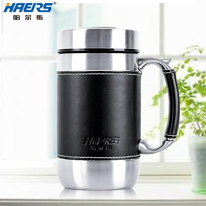 哈尔斯保温杯正品 真空不锈钢男士保温杯办公杯 泡茶水杯