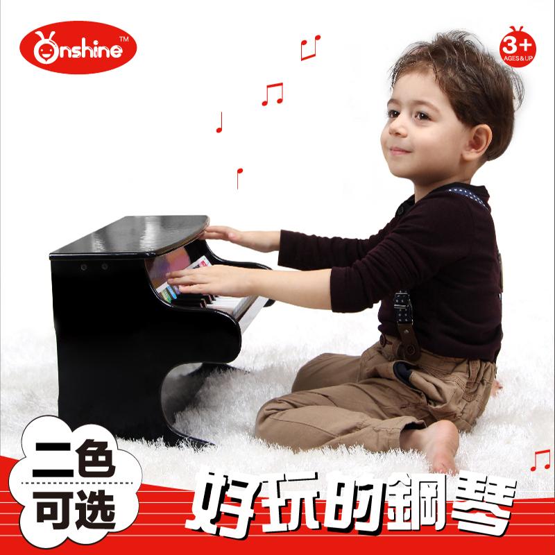 童年无限儿童益智早教玩具30键木质三角钢琴玩具 宝宝钢琴3岁礼物