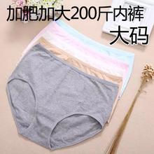 三角裤 女纯棉柔软弹性短裤 内裤 头200斤胖mm特大码 加肥加大女装