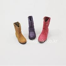 特价韩国进口童鞋代购2015冬款PINK女童时尚星星勾花靴子中筒靴
