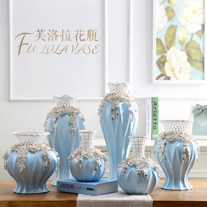 创意落地花瓶摆件欧式陶瓷客厅电视柜插花干花现代简约家居装饰品