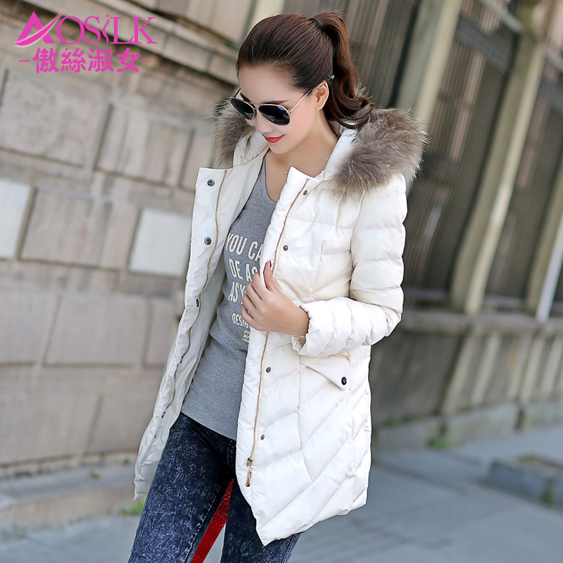棉衣女2014新款潮韩版加厚棉服女中长款保暖修身棉袄休闲冬装外套