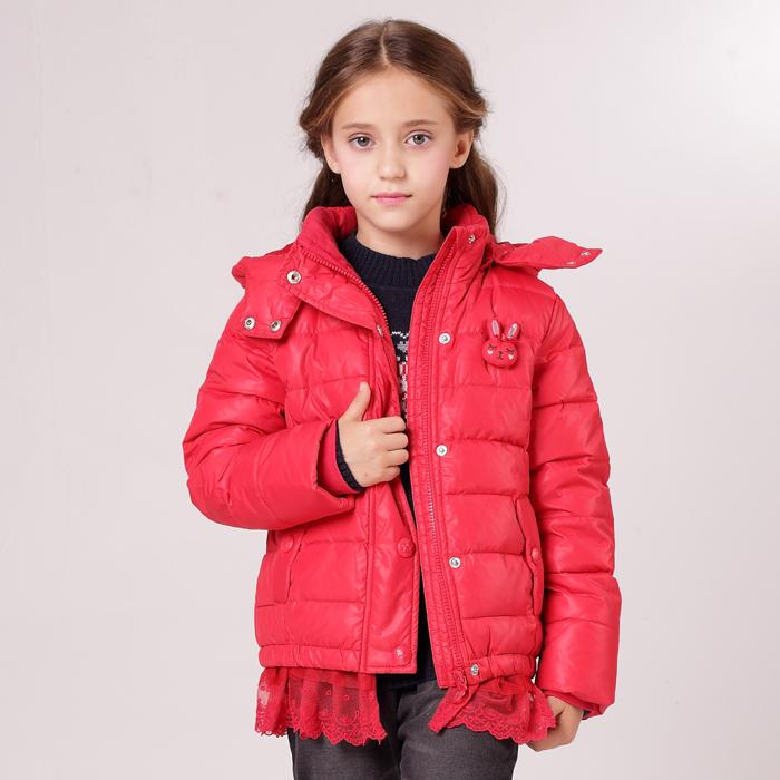 安奈儿女童装 超短款带帽羽绒服AG345544专柜正品冬装 特价