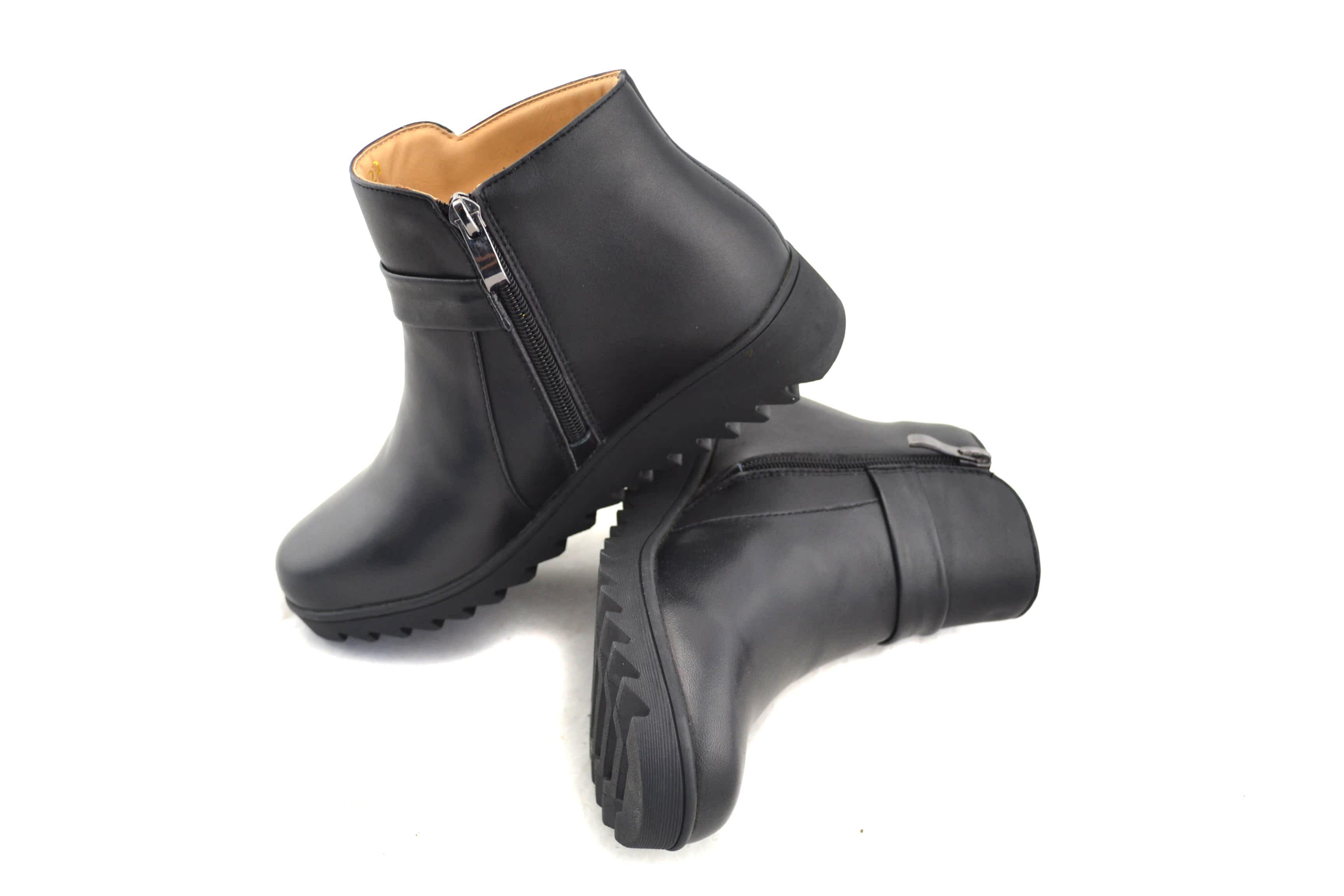 3515强人皮鞋牛皮真皮羊毛靴保暖靴防滑靴妈妈鞋户外鞋保暖舒适