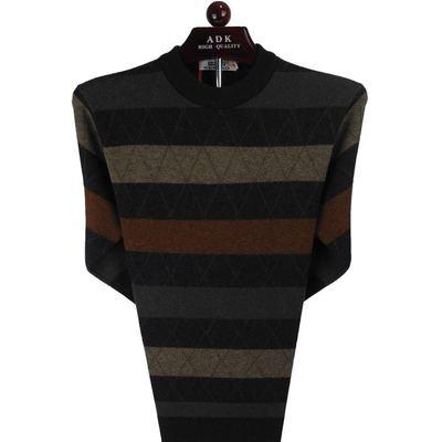 中年半高领男士羊毛衫雪豹中老年男士毛衣2015新款秋冬季男针织衫