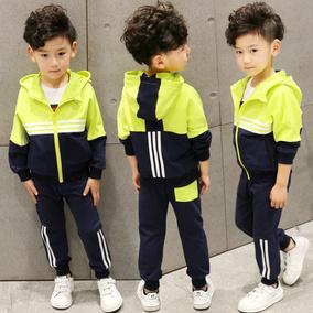 童装男童春装套装2017新款5韩版6儿童7春季8两件套9运动10岁潮衣