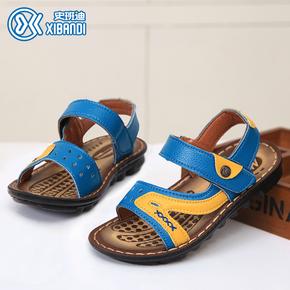 2015夏季新款童鞋男童凉鞋韩版儿童真皮沙滩鞋学生露趾魔术贴鞋子