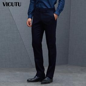 VICUTU/威可多男士西服裤商务休闲羊毛单西裤修身直筒西装裤