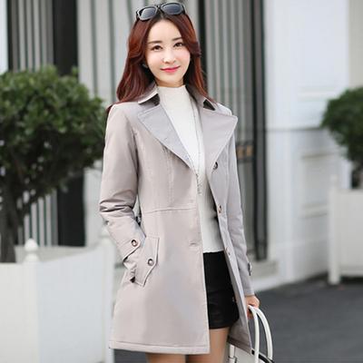 2016新款女装户外防风雪防雨防寒保暖棉衣修身显瘦中长款风衣外套