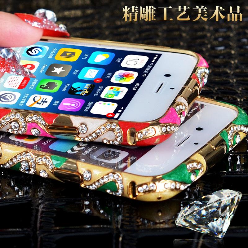 苹果6金属边框手机壳欧美iPhone6手机套水钻保护4.7寸潮男外壳女