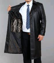 皮衣男士 男装 真皮绵羊皮风衣男大衣秋冬装 西服领长款 海宁2014新款