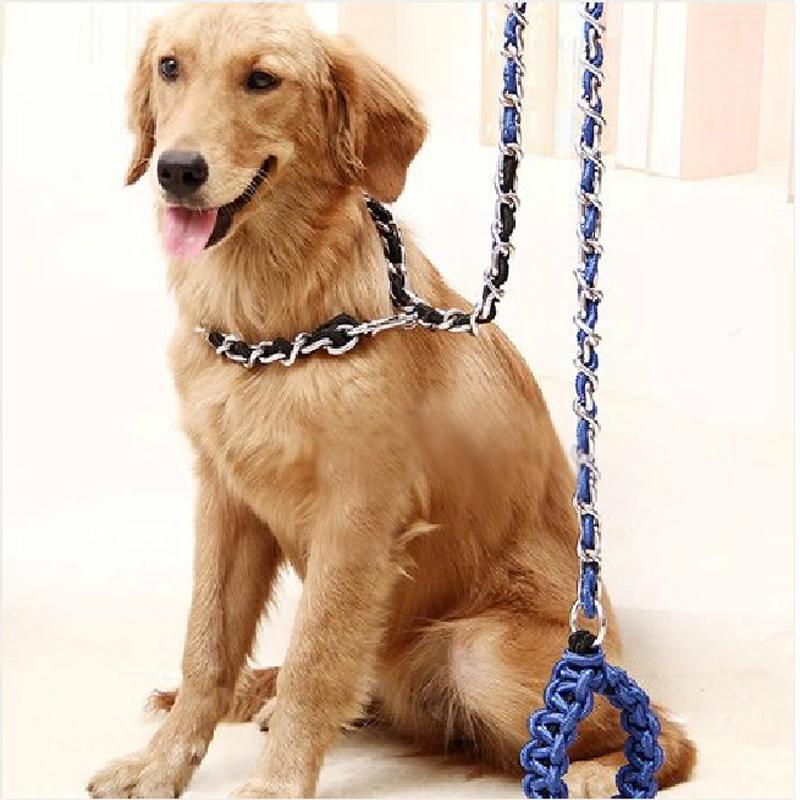 宠物狗链子不锈钢链狗绳子狗狗牵引绳套脖绳 金毛德牧中、大型犬