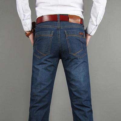 正品战地吉普牛仔裤男士秋季厚款休闲直筒男裤宽松秋冬款牛仔长裤