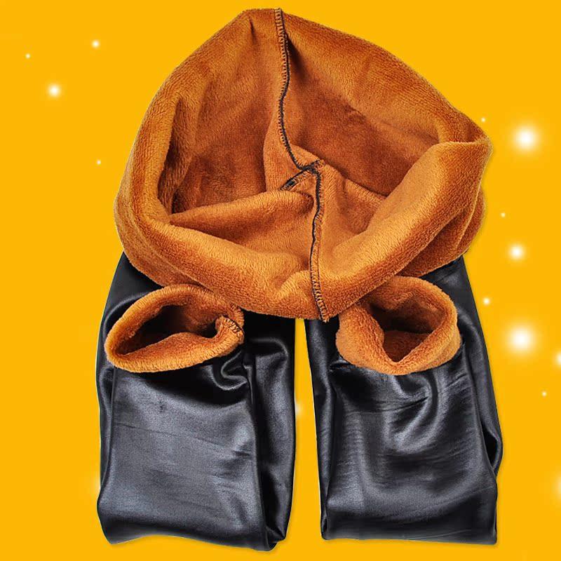 高腰仿皮裤女冬季加绒加厚打底裤外穿秋冬款显瘦黄金绒棉裤小脚裤