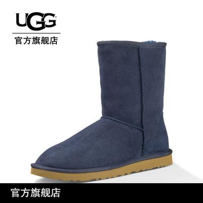 UGG女士雪地靴羊毛内里羊皮雪地靴经典中筒靴5825