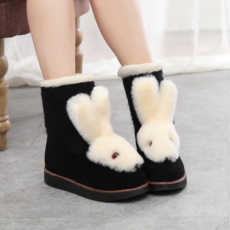 冬季新款雪地靴女韩版加绒加厚短靴    女士保暖棉鞋短筒厚底靴子