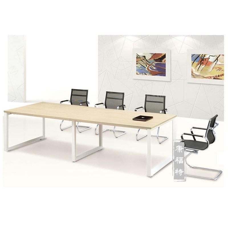上海商业办公家具员工培训桌钢脚会议桌简约现代条形长桌会议桌椅