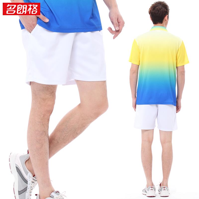 名朗格情侣运动短裤男士大码运动裤团体白色五分休闲裤女款沙滩裤